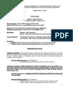 Programa - Direito Financeiro