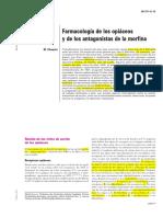 36 371 A 10 Farmacología de los opiaceos y de los antagonistas de la morfina