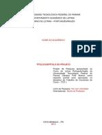 Modelo de Projeto de Pesquisa LETRAS