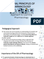 General Principles of Pharmacology_approach to Learning Pharmacology