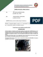 Informe de Karkatera Diseño de Una Malla de Perforacion