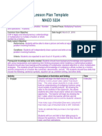 Kelsie Wall - MAED 3224 Lesson Plan Template