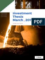 Maithon Alloy - Investment Thesis