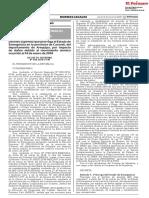 Decreto Supremo Que Prorroga El Estado de Emergencia en La Provincia de Caravelí Del Departamento de Arequipa Por Impacto de Daños Debido Al Movimiento Sísmico Ocurrido El 14 de Enero de 201