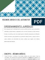 Regimen Juridico Del Automotor
