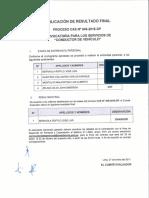 Perú Resultado Chofer Despacho Presidencial Enero 2017