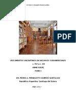 Documentos Argentinos en Archivos Sudamericanos- Sucre Tomo i