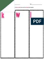 5e lesson kwl chart