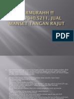 TERMURAHH !!! 0857.7940.5211, jual manset lengan sambung Jakarta Depok