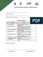 Formatos de Planes de Negocio o Planes de Mejora