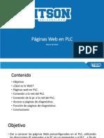 Presentación de Paginas Web en PLC