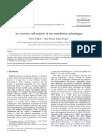 Khan et al., 2004 JEM - Remediation techniques overview.pdf