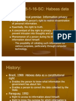 The Writ of Habeas Data