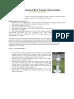 Cara Pengamatan Rain Gauge Ombrometer (Hujan)