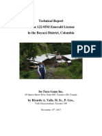 Colombia Technical Report by Competent Person1