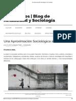 Una Aproximación Sociológica a La Juventud