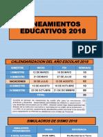 LINEAMIENTOS EDUCATIVOS 2018