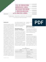 PROTOCOLO DE INDICACIONES E INTERPRETACIÓN CLÍNICA DE LA INMUNOELECTROFORESIS DE LAS INMUNOGLOBULINAS EN LA PRÁCTICA CLÍNICA