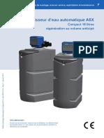 Notice Utilisateur Adoucisseur BWT Permo Volumeco