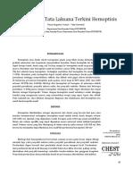 Diagnosis Dan Tata Laksana Terkini Hemoptisis
