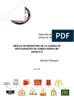 Mezcla de Marketing y Estrategia del las cadena de restaurantes Mc Donald´s