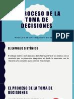 El Proceso de La Toma de Decisiones