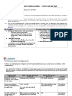 post placement learning plan professional year