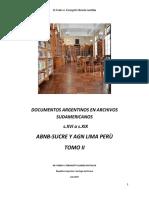 Documentos Argentinos en Archivos Sudamericanos- Sucre -Perù Tomo II