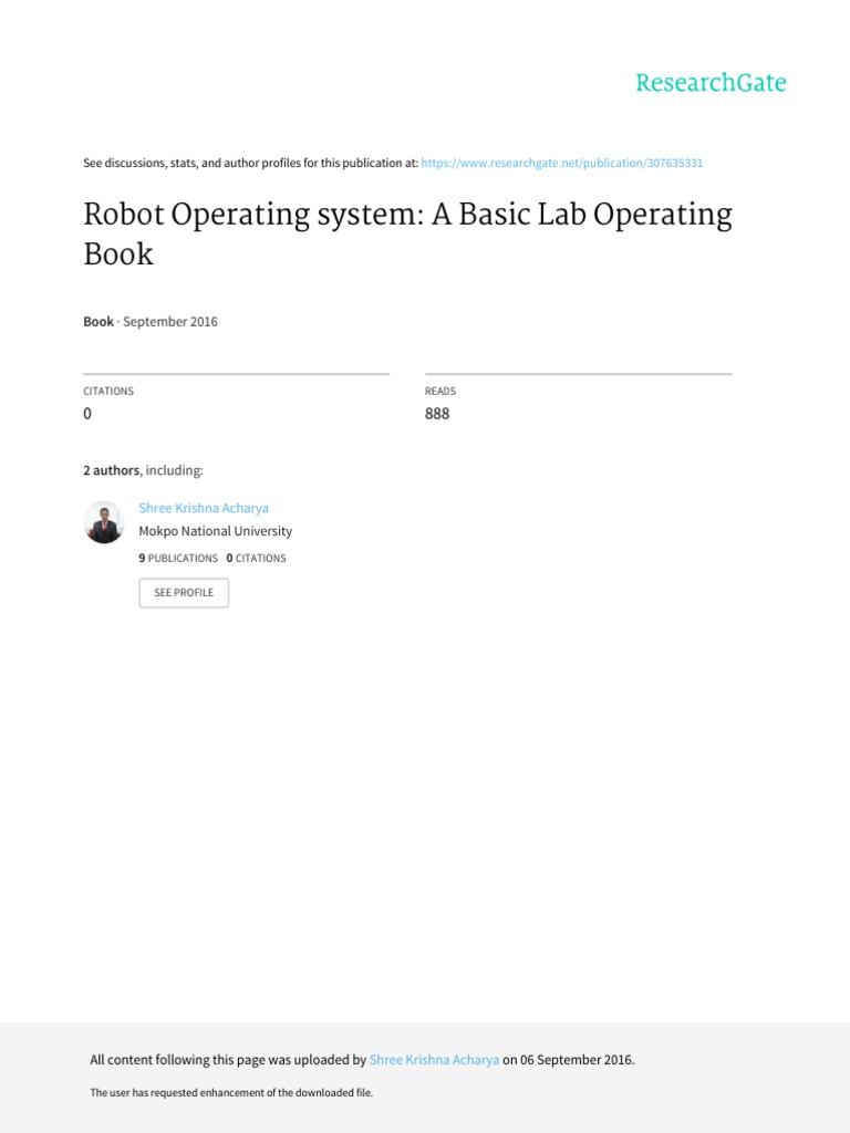 Basic Operating Tutorial of Robot Operating System | Ubuntu