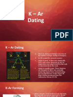 K – Ar Dating
