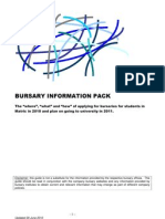 Bursary Information Pack 0f
