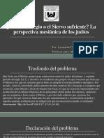 El Mesías Regio o El Siervo Sufriente Defensa de Tesis 06-12-2017