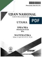 Soal UN SMA IPA Matematika 2014-2015