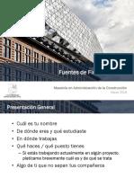 Fuentes de Financiamiento Sesion 01