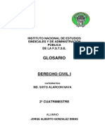 Glosario de Derecho Civil