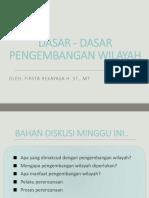 2. Dasar-dasar Pengembangan Wilayah 2