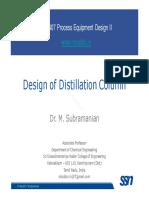 DesignII Lecture 04b DistillationColumnDesign