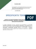 Specificatii Tehnice-sectiune A