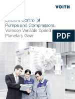 Efficient Control of Pumps and Compressors Vorecon Variable Speed Planetary Gear