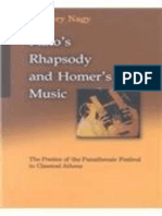 Nagy - Plato's Rhapsody and Homer's Music. the Poetics of the Panathenaic Festival in Classical Athens