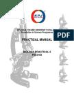 Biology Practical 2 - Manual FIS 2102