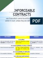 Unenforceable Contracts (1)