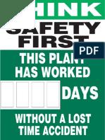 Safety Scoreboard