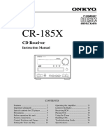 Onkyo CR 185 X Owners Manual