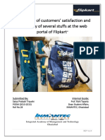 Flipkart-measuring Customer Satisfaction & Availability of Several Stuff at Web Portal