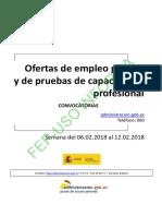 BOLETIN SEMANAL CONVOCATORIA OFERTA EMPLEO PUBLICO DEL 06 AL 12 DE FEBRERO DE 2018.pdf