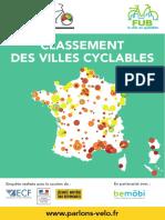 Le classement des villes cyclables