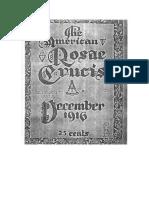 AMORC-The American Rosae Crucis 12 Diciembre 1916 Completo Traducido Al Español