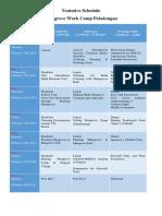 [New] Tentative Schedule of Work Camp Mangrove