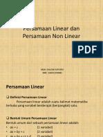 Persamaan Linear Dan Persamaan Non Linear
